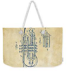1906 Brass Wind Instrument Patent Artwork Vintage Weekender Tote Bag