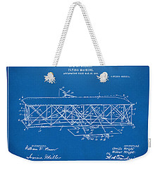 1906 Wright Brothers Flying Machine Patent Blueprint Weekender Tote Bag