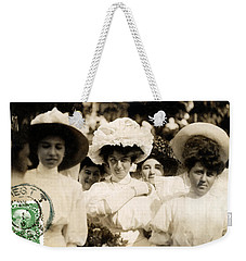 1908 Fashionable Ladies Of Trieste Weekender Tote Bag by Historic Image