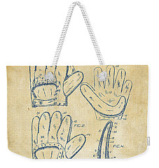 1910 Baseball Glove Patent Artwork Vintage Weekender Tote Bag
