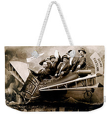 1910 Flight Over Portland Weekender Tote Bag by Historic Image