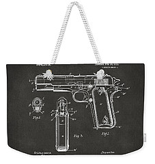 1911 Browning Firearm Patent Artwork - Gray Weekender Tote Bag