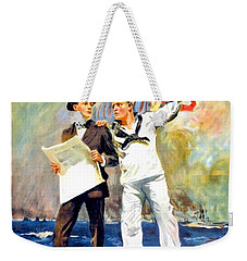 1917 - United States Navy Recruiting Poster - World War One - Color Weekender Tote Bag