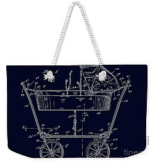 1922 Baby Carriage Patent Art Blueprint Weekender Tote Bag