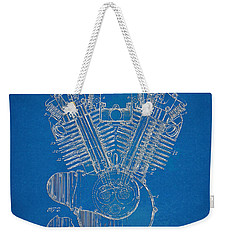 1923 Harley Davidson Engine Patent Artwork - Blueprint Weekender Tote Bag