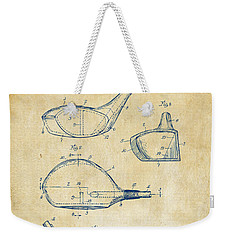 1926 Golf Club Patent Artwork - Vintage Weekender Tote Bag