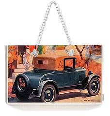 1927 - Chevrolet Advertisement - Color Weekender Tote Bag