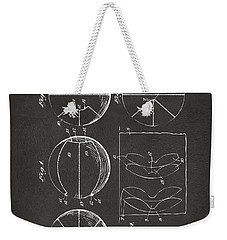 1929 Basketball Patent Artwork - Gray Weekender Tote Bag by Nikki Marie Smith