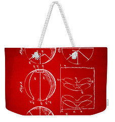 1929 Basketball Patent Artwork - Red Weekender Tote Bag by Nikki Marie Smith