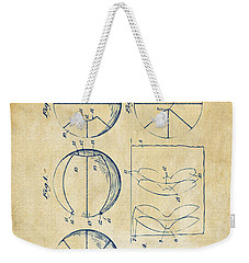 1929 Basketball Patent Artwork - Vintage Weekender Tote Bag by Nikki Marie Smith