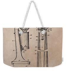 1930 Drink Mixer Patent Weekender Tote Bag by Dan Sproul