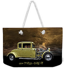 Weekender Tote Bag featuring the digital art 1930 Ford Coupe by Richard Farrington