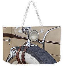 Weekender Tote Bag featuring the photograph 1930 Stutz Sv16 Weymann Monte Carlo by Maj Seda