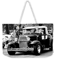 1934 Classic Car In Black And White Weekender Tote Bag by Ester  Rogers