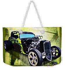1934 Ford Three Window Coupe Hot Rod Weekender Tote Bag