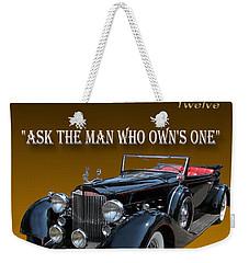 1934 Packard Weekender Tote Bag by Jack Pumphrey