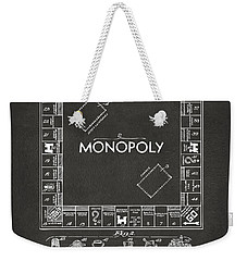 1935 Monopoly Game Board Patent Artwork - Gray Weekender Tote Bag