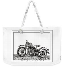1936 Harley Knucklehead Weekender Tote Bag by Jack Pumphrey