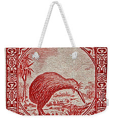 1936 New Zealand Kiwi Stamp Weekender Tote Bag