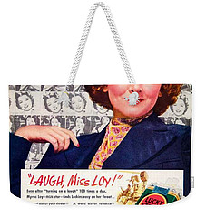 1938 - Lucky Strike Cigarettes Advertising - Myrna Loy - Color Weekender Tote Bag