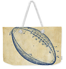 Weekender Tote Bag featuring the drawing 1939 Football Patent Artwork - Vintage by Nikki Marie Smith