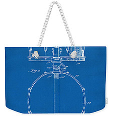 1939 Snare Drum Patent Blueprint Weekender Tote Bag by Nikki Marie Smith