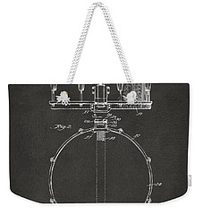 1939 Snare Drum Patent Gray Weekender Tote Bag by Nikki Marie Smith