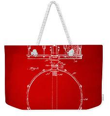 1939 Snare Drum Patent Red Weekender Tote Bag