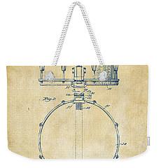 1939 Snare Drum Patent Vintage Weekender Tote Bag