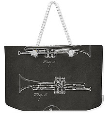 1940 Trumpet Patent Artwork - Gray Weekender Tote Bag by Nikki Marie Smith