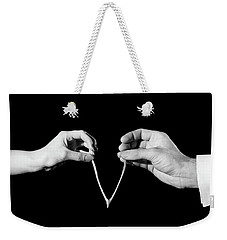 1940s Mans & Womans Hands Pulling Weekender Tote Bag