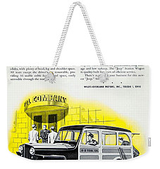 1946 - Willys Overland Jeep Station Wagon Advertisement - Color Weekender Tote Bag