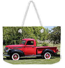 1946 Chevy Pickup Weekender Tote Bag by E Faithe Lester