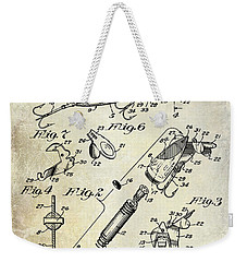 1940 Illuminated Bait Patent Drawing Weekender Tote Bag by Jon Neidert