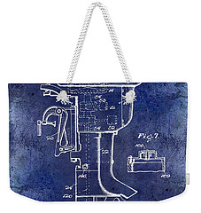1947 Outboard Motor Patent Drawing Blue Weekender Tote Bag by Jon Neidert