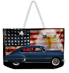 Weekender Tote Bag featuring the photograph 1949 Pontiac Tribute Roger by Peter Piatt