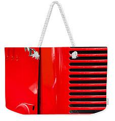 1950 Four Wheel Drive Pumper Fire Truck Emblems Weekender Tote Bag by Jill Reger