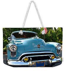 1950 Oldsmobile Weekender Tote Bag