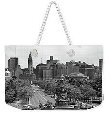 1950s Benjamin Franklin Parkway Looking Weekender Tote Bag