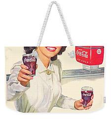 1952 - Coca-cola Advertisement - Color Weekender Tote Bag