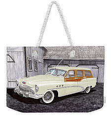 1953 Buick Estate Wagon Woody Weekender Tote Bag