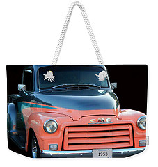 1953 Gmc Pick-up Weekender Tote Bag by Davandra Cribbie