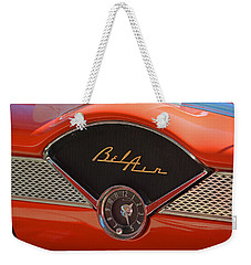 1955 Chevy Bel Air Dashboard Clock Weekender Tote Bag