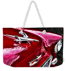 1955 Chevy Bel Air Hood Ornament Weekender Tote Bag