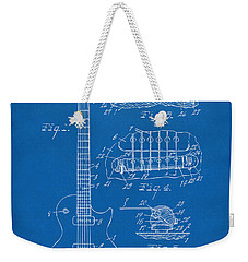 1955 Mccarty Gibson Les Paul Guitar Patent Artwork Blueprint Weekender Tote Bag