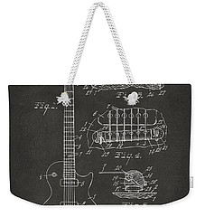 1955 Mccarty Gibson Les Paul Guitar Patent Artwork - Gray Weekender Tote Bag by Nikki Marie Smith