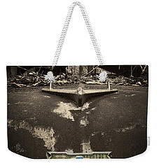 1956 Chevrolet Rust Bucket Sepia Toned Weekender Tote Bag