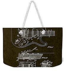 1956 Fender Tremolo Patent Drawing II Weekender Tote Bag by Gary Bodnar