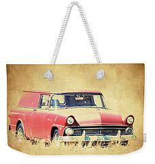 1956 Ford Sedan Delivery Weekender Tote Bag by Steve McKinzie