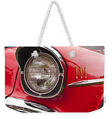 1957 Chevrolet Bel Air Headlight Weekender Tote Bag
